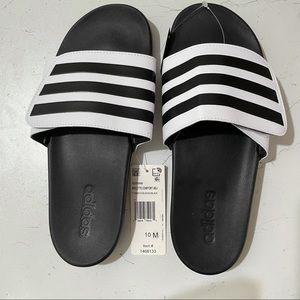 adidas Unisex Slide Sandal, White, M10/W11